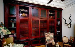 Custom woodworking entertainment center
